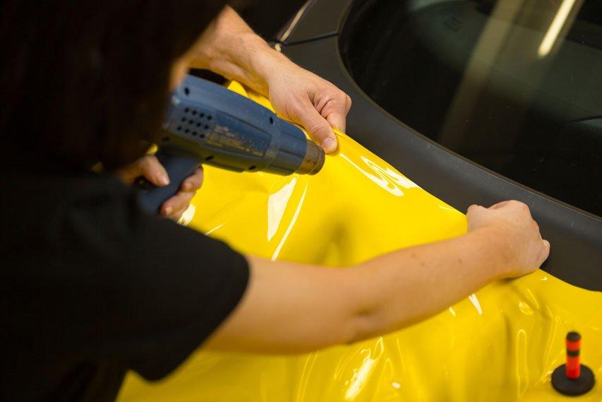 apply heat by car wrapper